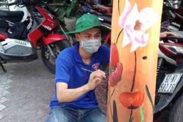 Bích họa trên cột điện ở Quảng Ngãi