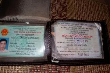 Nhặt được giấy tờ Phan Tấn Linh quê xã Bình An